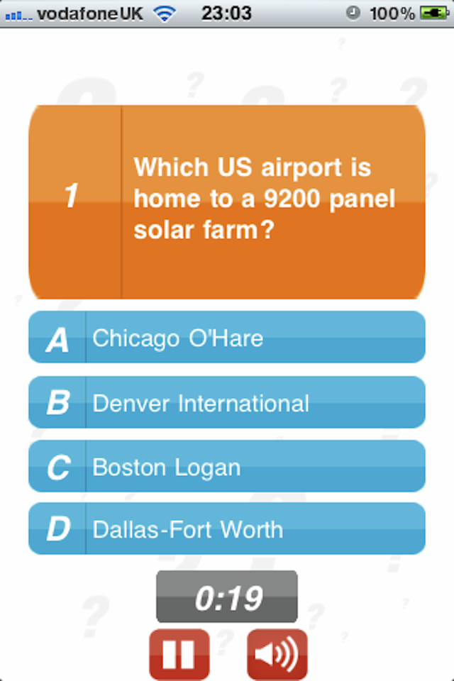 Screenshot Airports – 100Q Quiz