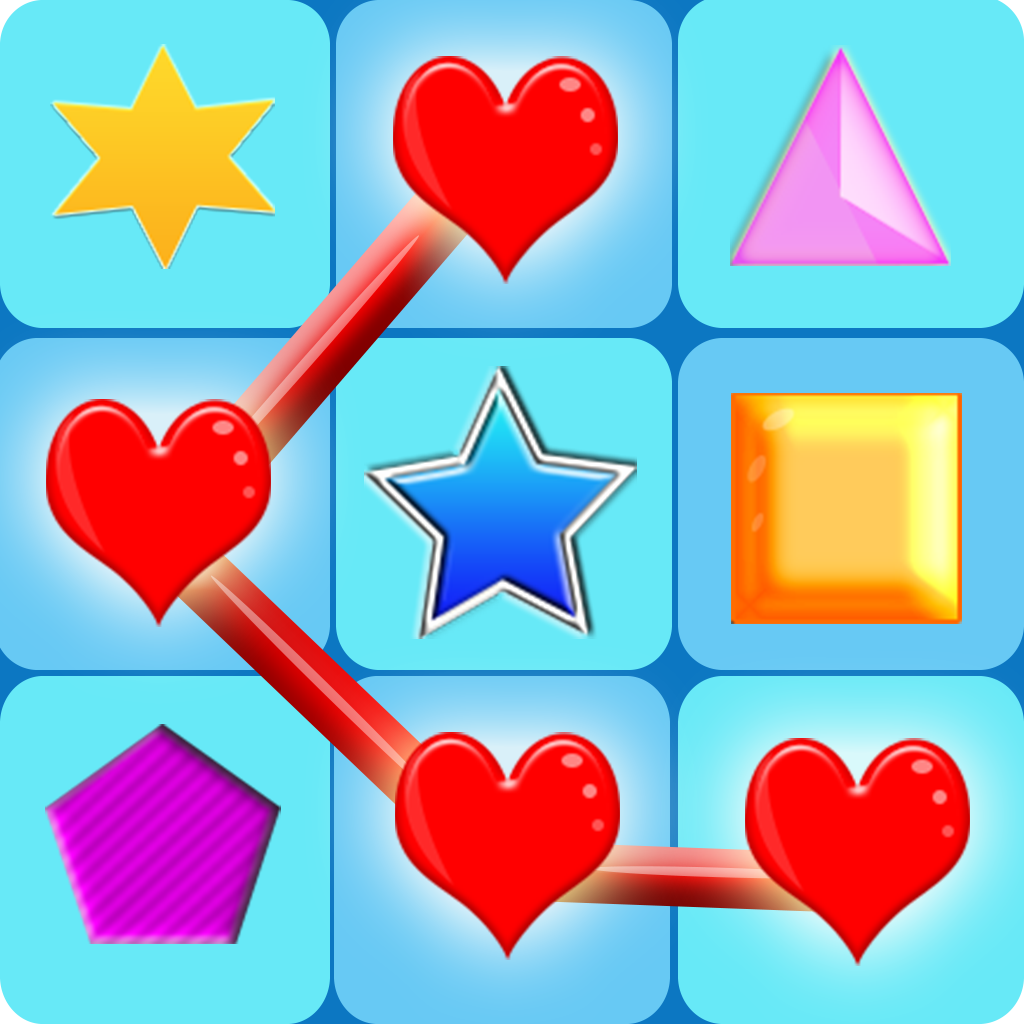 Neon Glow Shapes Puzzle: Threes a Match! Pro